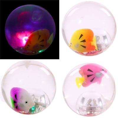 High Bounce Rubber Flashing Fish Ball from Puckator