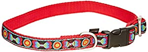 Premier Fido Finery Quick Snap Dog Collar, 3/4-Inch, Medium, Bones and Dots