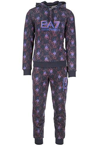 Emporio Armani EA7 tuta uomo fashion completo felpa pantaloni blu EU M (UK 38) 6XPM68 PJ10Z 2523
