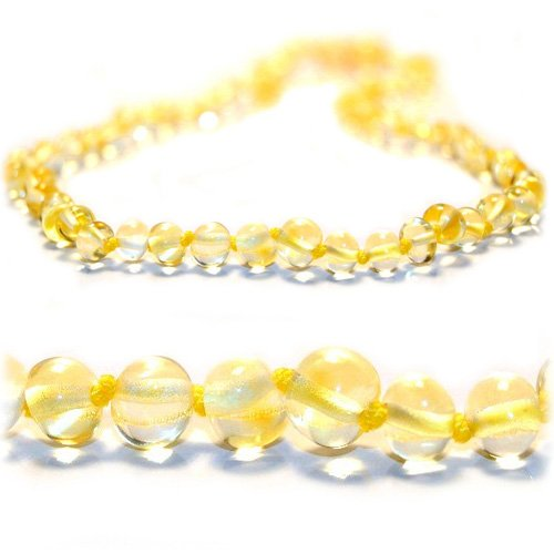 Certified Baltic Amber Teething Necklace for Baby (Lemon) - Anti-inflammatory - 1
