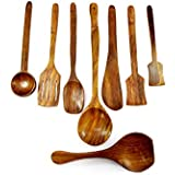 Wooden Kitchen Tools Cookware Set Of 8