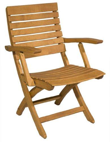 Gartenstuhl Nizza – Moderner Niedriglehner aus Holz – braun lackiert – Qualität aus Deutschland bestellen