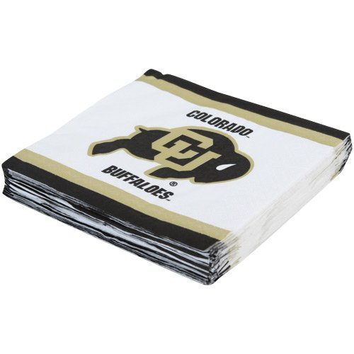 Mayflower Distributing Company 24 Count University of Colorado Beverage Napkin, Multicolor
