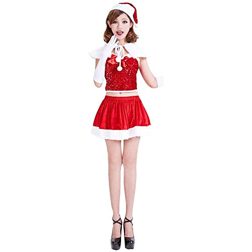 Vinciph Santa Costumes for Girls Women Cosplay Suit Sexy Merry Christmas Dress