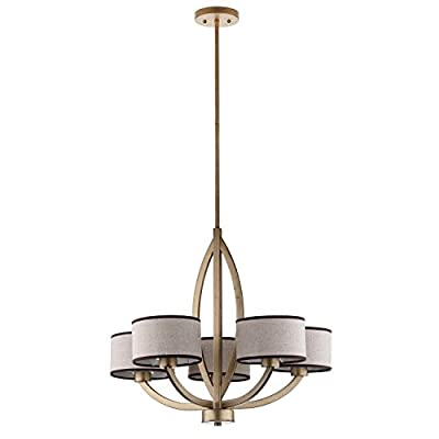 Safavieh Lighting Collection Talia Antique Gold 58.6-inch Chandelier