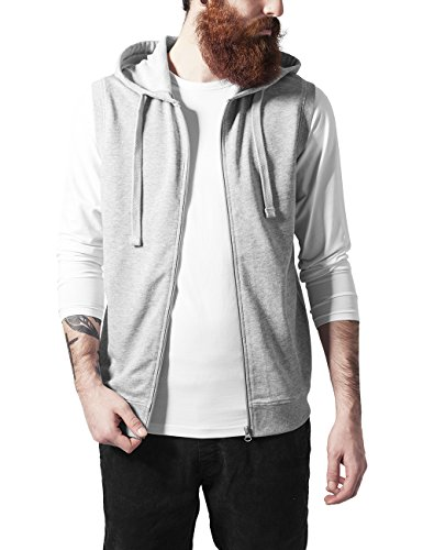 Urban Classics Sleeveless Terry Zip Hoody, Felpa Uomo, Grau (Grey 111), Large