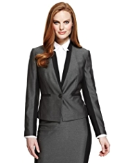 M&S Collection Contrast Panelled Jacket