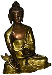 Exotic India The Medicine Buddha - Brass Statue