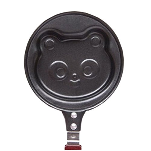 Cute Panda Utility Nonstick Cast Iron Skillet Mini Poached Egg Pan(4.7*5.5'') (Panda Pan compare prices)