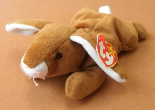 TY Beanie Babies Ears the Rabbit Plush Toy Stuffed Animal - 1