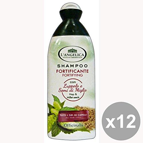 Set di 12 L'ANGELICA Shampoo Fortificante LUPPOLO-MIGLIO 250 Ml. Prodotti per capelli