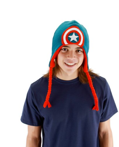 elope Men's Avengers Assemble Captain America Laplander, Blue, One Size - 1