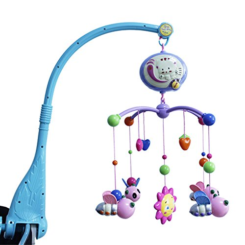 Cartoon Baby Lullaby Nursery Crib Cot Musical Mobile Animal Songs Bedtime Bed Bell Toys