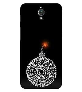EPICCASE dynamite black Mobile Back Case Cover For Asus ZenFone C (Designer Case)