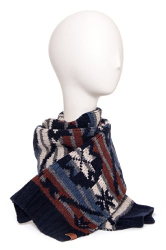 Unisex Navajo Fairisle Graphic Knit Scarf