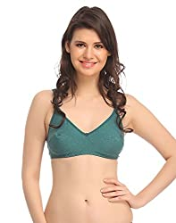 Miss Clyra Non Padded & Non Wired Cotton Bra - Green