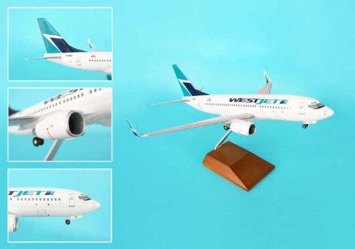 skymarks-supreme-skr8227-westjet-737-700-1-100-with-wood-stand-and-gear