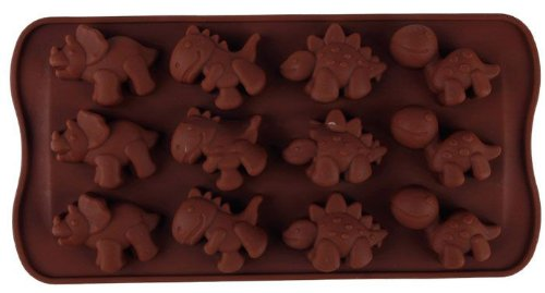 niceEshop(TM) Silicone Chocolate Dinosaur Mold Mould-Chocolate