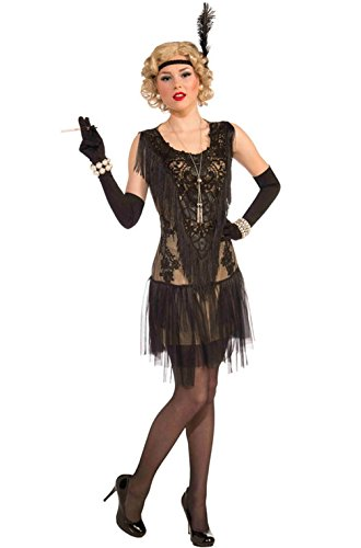 Mememall Fashion The Great Gatsby Flapper Lacey Lindy Adult Costume