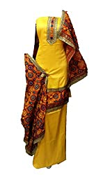 Lov Kush Unstiched Salwar Suit (Yellow)-Unique Wedding Collection