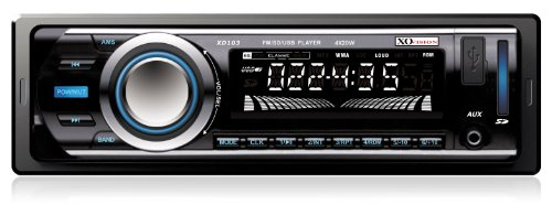 Radio de carro XO Vision XD103 FM y receptor MP3 Stereo  con puerto USB y puerto SD Card