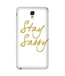 Stay Sassy-01 Back Cover Case for Samsung Galaxy Note 3 Neo