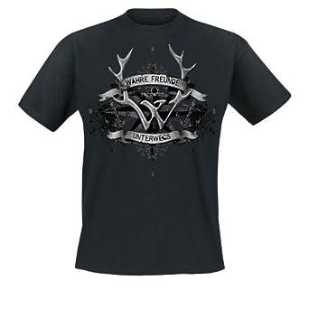 Frei.Wild - Wahre Freunde Unterwegs T-Shirt, schwarz, Grösse S