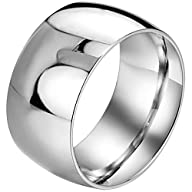 Men,Women's Wide 11mm Stainless Steel…