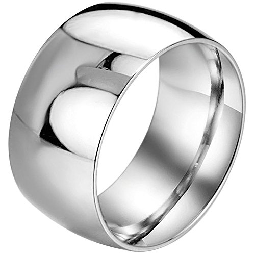 Men,Women's Wide 11mm Stainless Steel Ring Band Silver Classic Wedding Polished Size 9 (Stainless Steel Rings For Men compare prices)