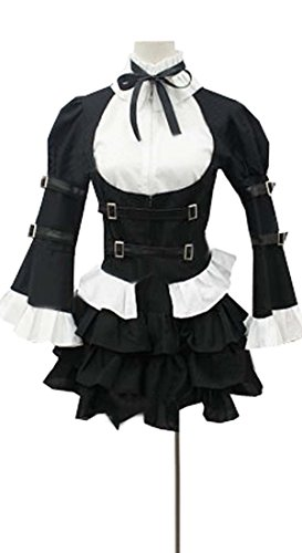 CosEnter Anime Fairy Tail Erza Scarlet Maid Outfit Cosplay Costume