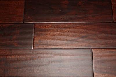 "Elk Mountain Acacia Coffee 1/2"" x 4-3/4"" Hand Scraped Engineered Click Lock Hardwood Flooring AH264 SAMPLE"