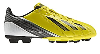 Buy Adidas Boys Youth F5 TRX FG J Soccer Cleats-No Box-Yellow Black White by adidas