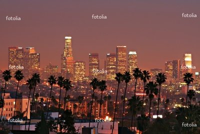 """Wallmonkeys Peel and Stick Wall Decals - Los Angeles Skyline - 36""""W x 24""""H Removable Graphic"""