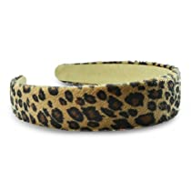 Leopard Print Cloth Headband Brown