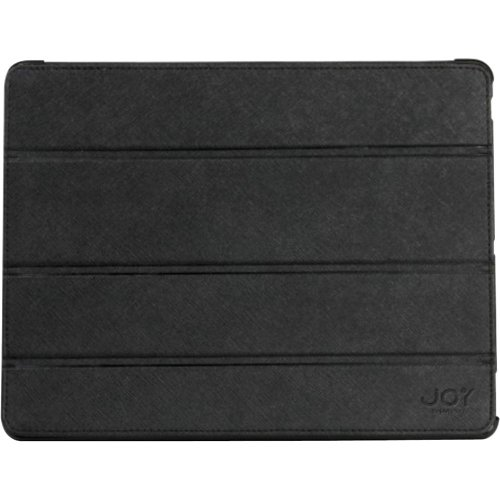 The Joy Factory SmartSuit2 Ultra Slim Leather Snap-On Case with Wake Up and Sleep Cover for iPad2 - AAD119 (Black)