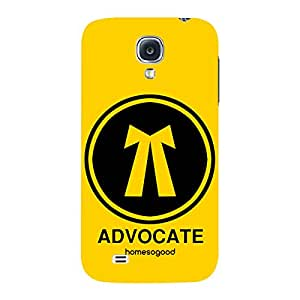 HomeSoGood Professional Advocate Yellow 3D Mobile Case For Samsung S4 ( Back Cover)