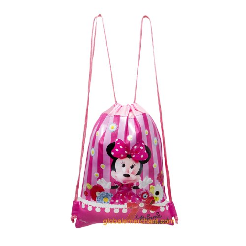 Disney Minnie Mouse Hot Pink Drawstring Bag - 1