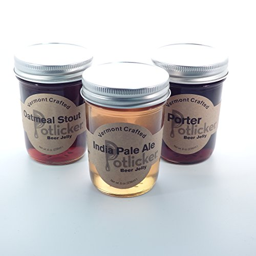 Set of 3 Jars of Beer Jelly - IPA, Porter and