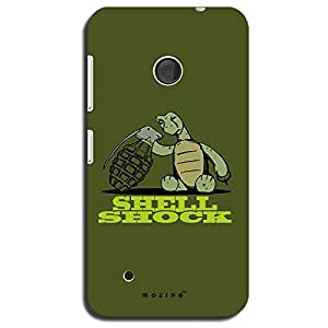 Mozine Shell Shock printed mobile back cover for Nokia lumia 530