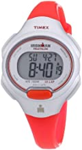 Timex Sport & Outdoor Women's Digital Watch with LCD Dial Digital Display and Orange Resin Strap T5K741SU