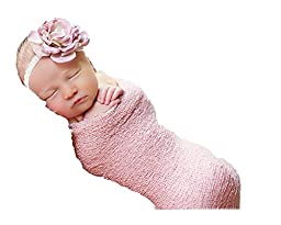 Newborn Photo Prop Stretch Wrap Baby Photography Wrap-BAby Photo Props -20 Colors! (o. Blush Pink)