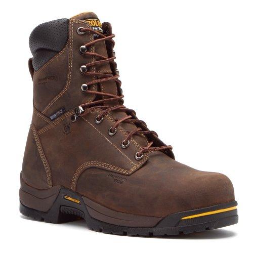 Carolina Men'S 8 Inch Composite Waterproof Insulated Broad Toe Gaucho Crazy Horse Leather 10.5 2E Us