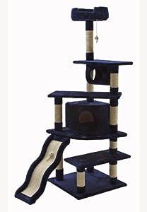 Go Pet Club Cat Tree, 70-Inch, Blue