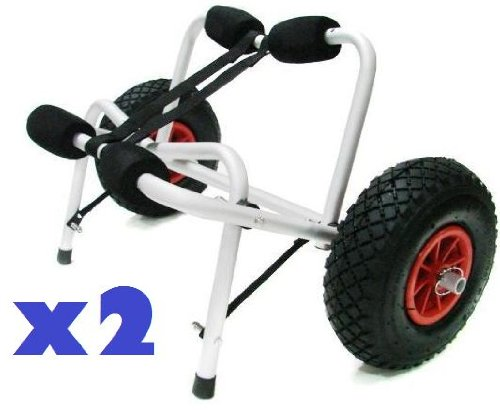 2 X Jon Boat Kayak Canoe Carrier Dolly Trailer