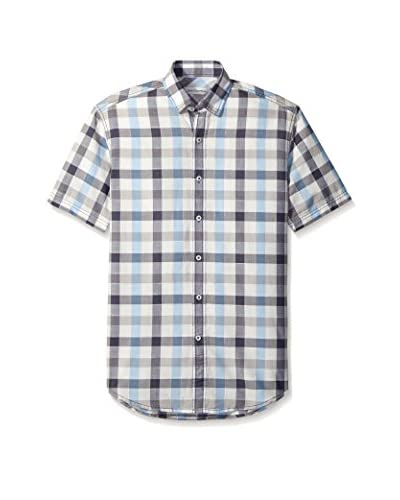 James Campbell Men's Lima Plaid Short Sleeve Sportshirt