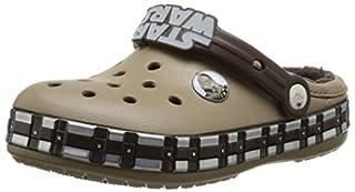 crocs Kids' Crocband Star Wars Chewbacca Lined Clog (Toddler/Little Kid), Khaki, 6 M US Toddler