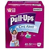 Huggies Pull-Ups Training Pants with Cool Alert for Girls, 4T-5T 52 ea