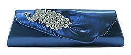 Scarleton Flap Clutch with Crystals H315507 - Blue