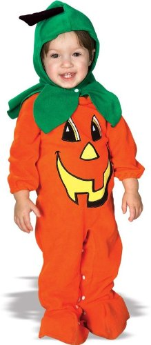 Rubies Costume Co. EZ-On Romper Costume, Lil' Pumpkin, 6 to 12 Months - 1