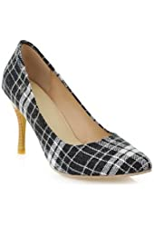 Carol Shoes Vintage Plaid Womens High Heel Pumps Dress Shoes